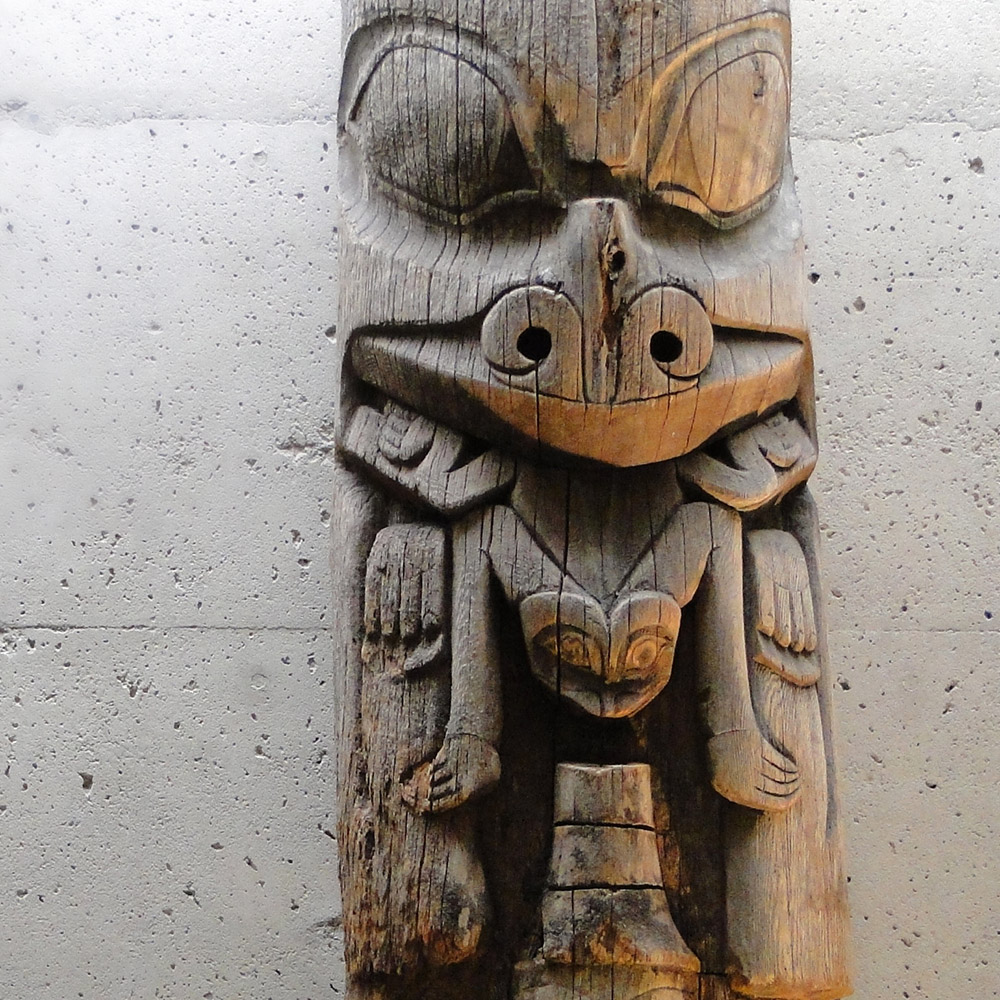 Totem pole in British Columbia